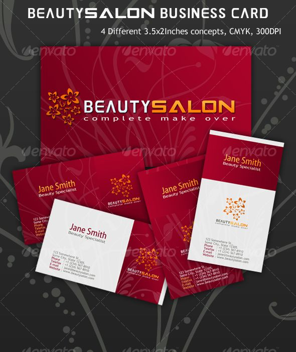 24 best business card hair and beauty images on pinterest carte de beauty salon business card flashek Gallery
