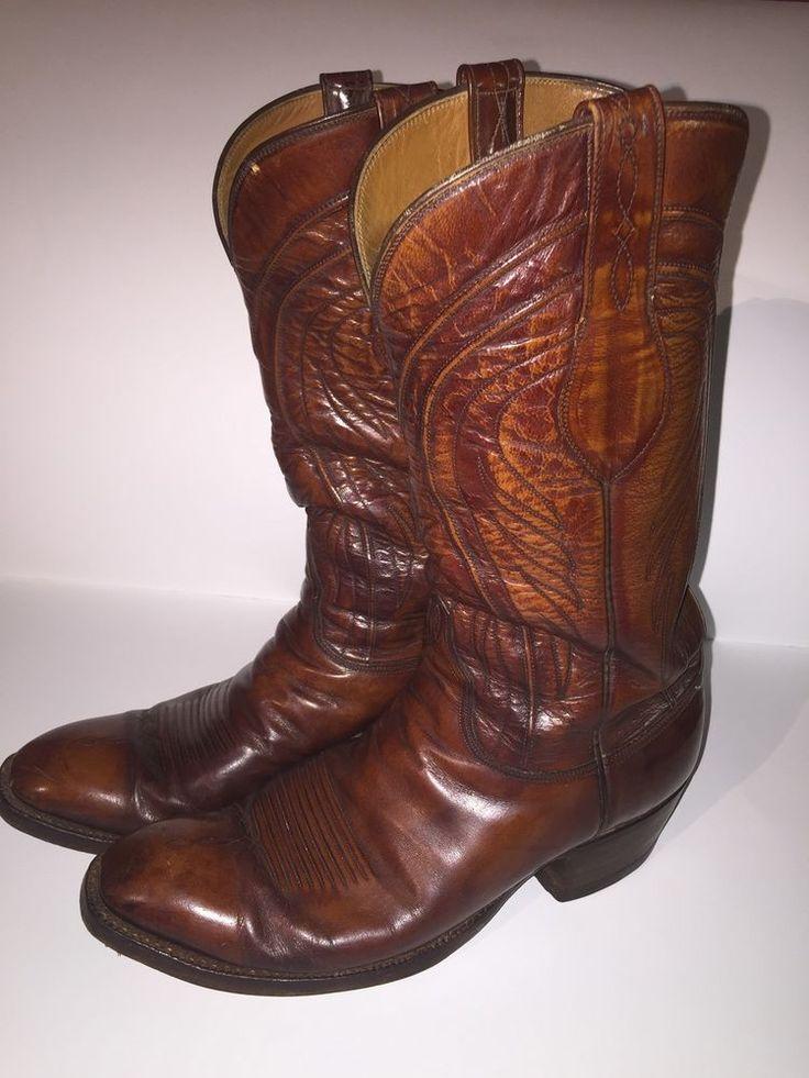 Vintage Men S Lucchese San Antonio Western Cowboy Boots