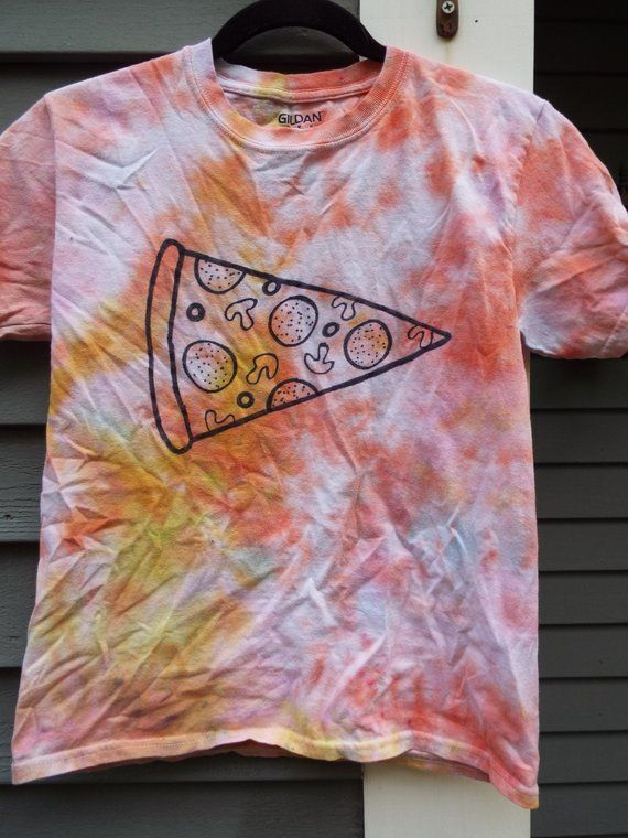 Kids Pizza Shirt, Youth Medium Tie Dye Pizza T-shirt Kids Tie Dye Shirt, Pizza Lover, Pizza Party, P