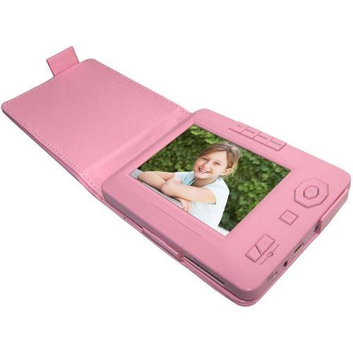 Display photos or play audio and video files on the Sungale TD350A-PK 3.5in Digital Photo Frame. Features and functions include a 3.5in high resolution LCD screen, internal memory for file..