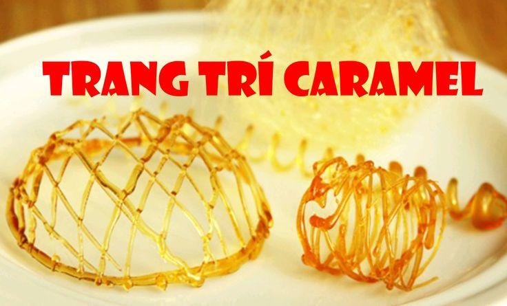 đun Caramen trang trí Bánh Flan từ đường Простые  украшения из карамели