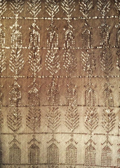 Egyptian Assuit (a textile marrying cotton or linen mesh with small strips of metal) circa 1920.