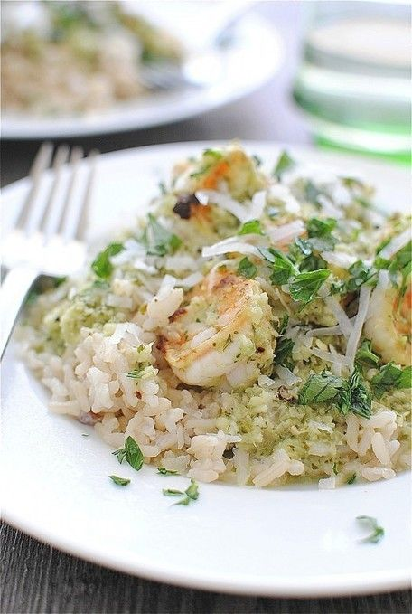 Spicy Coconut Shrimp with Brown Rice | scrumdillyish | Pinterest