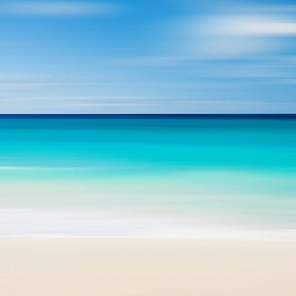 Beach Canvas Art Abstract Seascape Nautical Decor Caribbean Sea Summer... (155 CAD) ❤ liked on Polyvore featuring home, home decor, wall art, backgrounds, photo wall art, flower painting, nyc canvas wall art, ocean paintings and matte painting