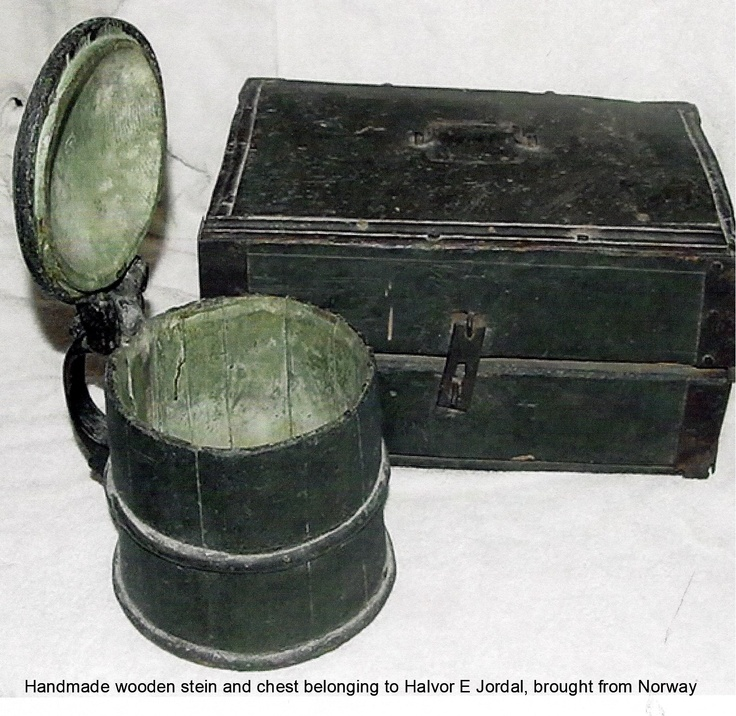 Stein and Chest Halvor Jordal brought from Norway. Thanks to Dale Jordal for sharing.