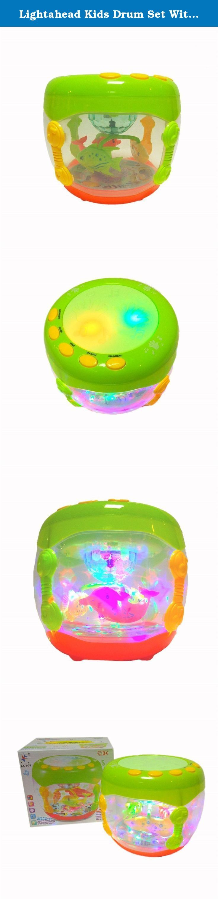 Lightahead Kids Drum Set With Music and Lights Electronic Touch Flash Lights Drum Dynamic Lamplight Toy For Kids and Toddlers GREEN. Lightahead® Electronic Touch Drum, Music Flash Drum Dynamic Lamplight. You know how important learning the fundamentals to your child's future. These basic skills provide your child with the building blocks for success. The drum is great toy and present for your child. This carefully-designed hand drum play tunes and beat of music, allowing your children to...