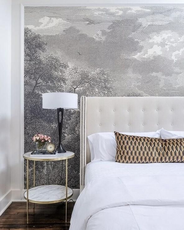 Best 25 white tufted headboards ideas on pinterest for Anthropologie wall mural