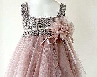 Double Layered Puffy Tutu Dress. Flower Girl Tulle by AylinkaShop