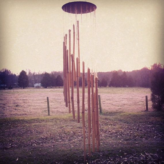 Spiral Bamboo Wind Chimes Bamboo Wind Chimes by BoondockTreasures, $40.00