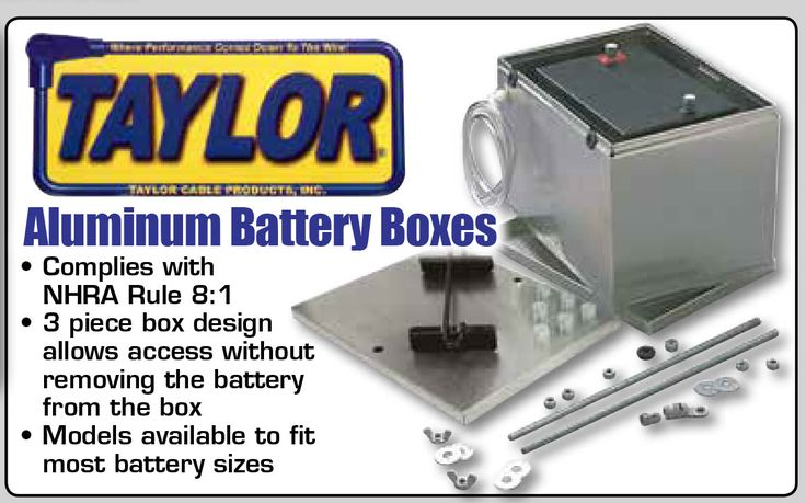 """Get Your Aluminum Battery Box From Taylor® - Available With or Without Battery Cables!  • 3-piece .040"""" aluminum box design allows access without removing the battery from box  • Hard mounts battery to the frame with supplied bolts  • All mounting hardware included  Boxes Available to Fit Most Battery Sizes  https://aadiscountauto.ca/special/884/taylor-aluminum-battery-box.html  #AADiscountAuto #AAPerformance #AluminumBatteryBox #Taylor  #TaylorBatteryBox"""