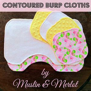 Oh Baby! Part Two: Contoured Burp Cloth Template - Free Template! - Muslin and Merlot