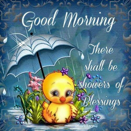 Good Morning There Shall Be A Shower Of Blessings .