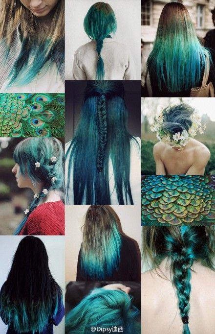 Peacock Blue #hair #color #ombre #dye