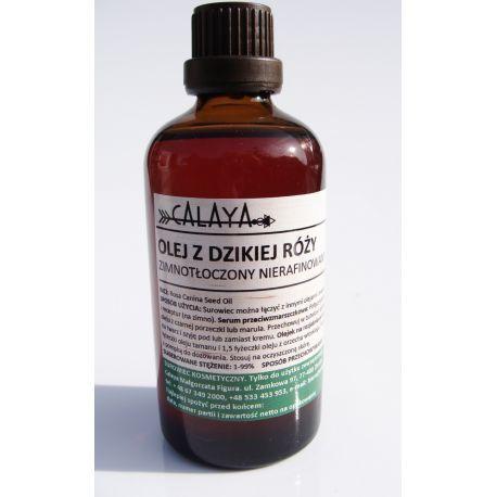 Olej z Dzikiej Róży Zimnotłoczony Nierafinowany - to jeden z najpopularniejszych surowców naturalnych stosowanych dla zachowania na długo młodej i jędrnej skóry. Swoje wyjątkowe właściwości zawdzięcza wysokiej zawartości kwasów tłuszczowych: 41-50 % kwas linolowy, 26-37% alfa-linolenowy, kwas oleinowy, palmitynowy.
