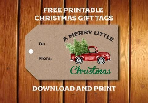 Freebie Friday : Printable Red Truck Christmas Gift Tags – Announce It!