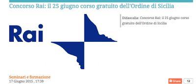 Redat24: Concorso Rai, l'Odg Sicilia  organizza corso di pr...