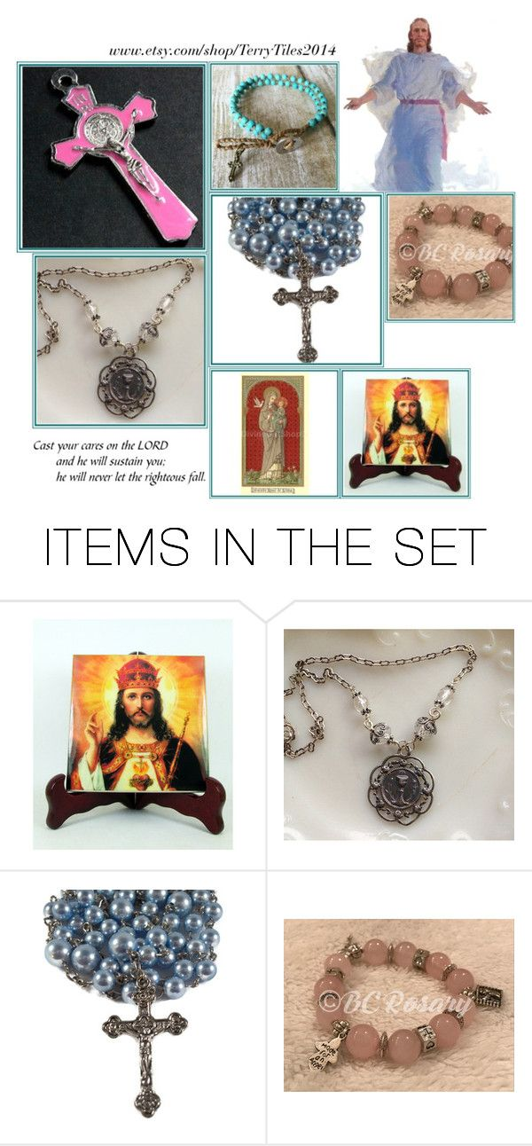 """""""Religious Art on Etsy by TerryTiles2014 - Volume 229"""" by terrytiles2014 on Polyvore featuring arte, etsy, art, gifts, catholic e religious"""