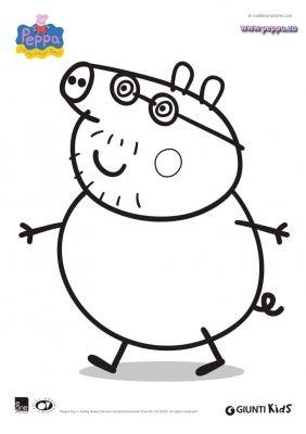 disegno di Papà Pig da colorare