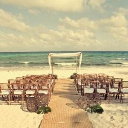 Jamie & Justin's Destination Wedding in Mexico: Aisle Runners, Idea, Dreams Wedding, Wedding Beaches, Beaches Ceremony, Beach Weddings, Wedding Chairs, Beaches Wedding, Wedding Ceremony
