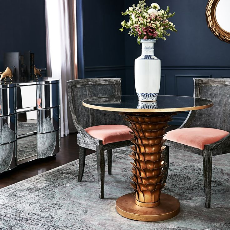 Athena Center/Dining Table, Gold - Bungalow 5