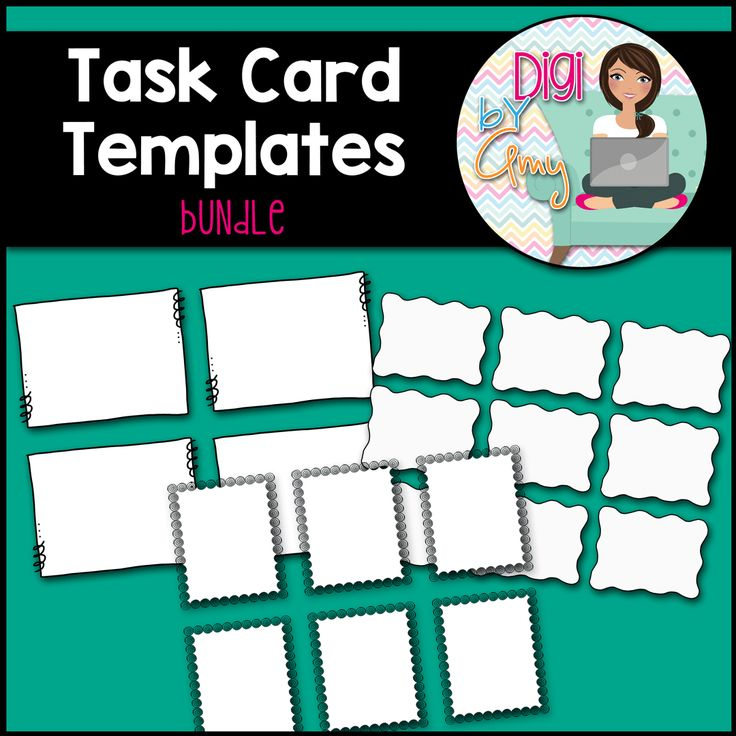 Task Card Frames and Borders BUNDLE - Template, $
