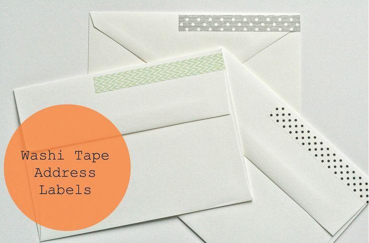 Washi Tape Return Address Stickers