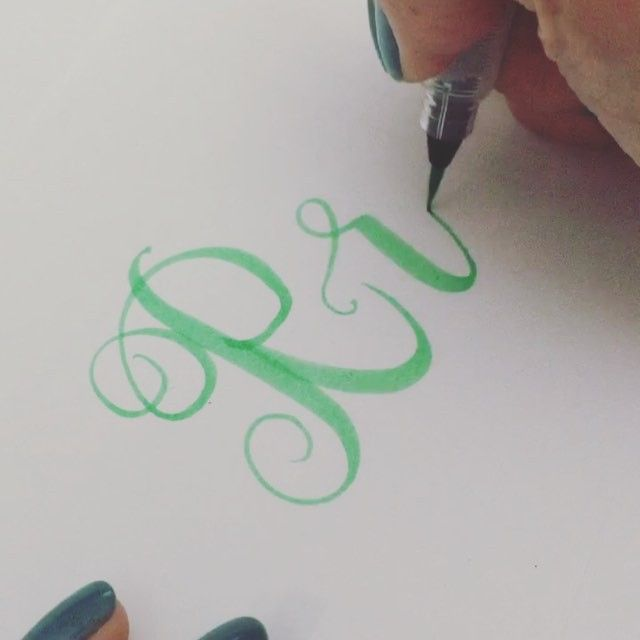 Best calligraphy the letter r images on pinterest