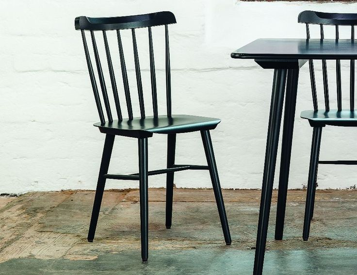 Black Spindle Back Chair | Dining chairs, Cafe chairs, Chair