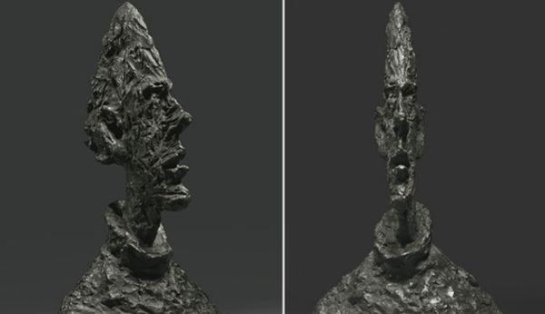 Grande Tete Mince (Grande cabeça fina), ela foi leiloada por 53,3 milhões de dólares em 2010. A obra de bronze foi esculpida em 1954 por Alberto Giancometti, um dos principais escultores surrealistas que o mundo já teve.  Fonte: http://top10mais.org/top-10-estatuas-mais-caras-mundo/#ixzz3uFFMk1eq