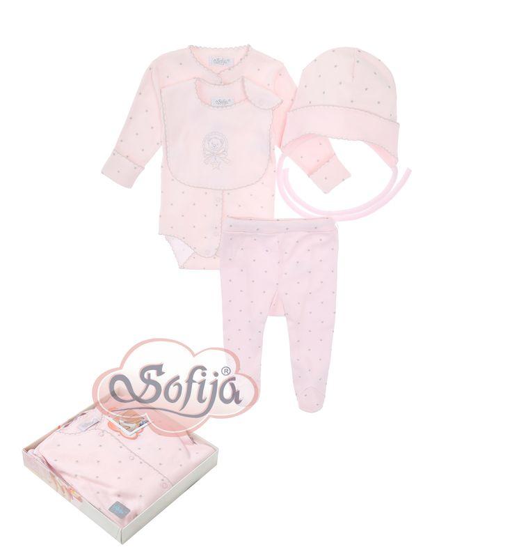 4-częściowy komplet dla dziecka Gwiazdeczka  www.sofija.com.pl  #babyshower #babygift #kinder #babygeschenk #kids #baby #dziecko #prezent #niemowlak #wyprawka #sofija #ubranka #подарокребенку #ребенок
