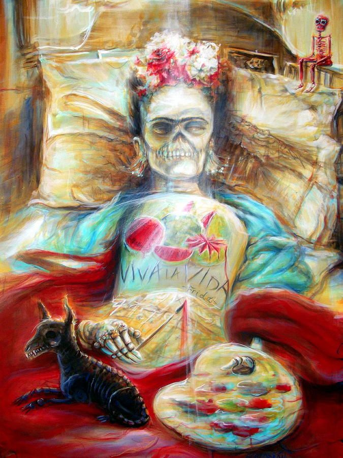 Frida Viva La Vida Painting by Heather Calderon