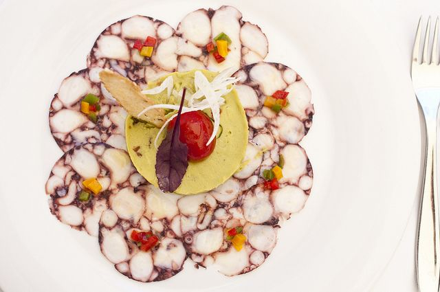 Dish of the day: Octopus Carpaccio at La Oliva | White Ibiza - Island Guide