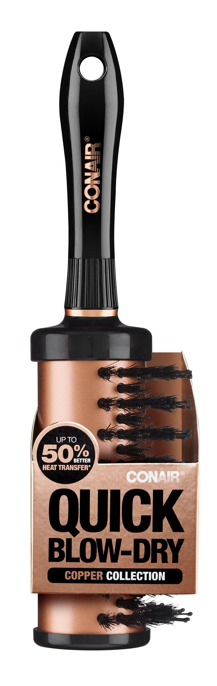 Conair® Quick Blow-Dry Vented Porcupine Half-Round Brush