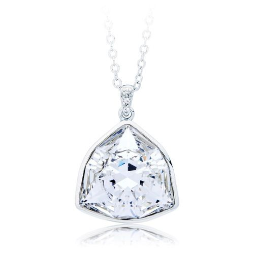 Trillion Brief Statement Pendant with Clear Swarovski® Crystal