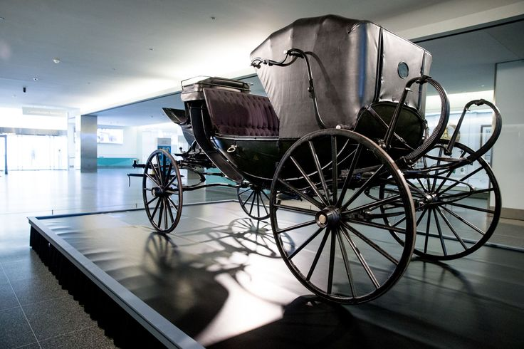 """n this March 17, 2015 file photo, President Abraham Lincoln's carriage is displayed at the National Museum of American History in Washington. The museum has partnered with the Ford's Center for Education and Leadership across the street from the historic Ford's Theatre where President Abraham Lincoln was killed for a new exhibit entitled """"Silent Witnesses: Artifacts of the Lincoln Assassination."""" The exhibit is open to the public until May 25th and coincides with the 150th anniversary of the…"""
