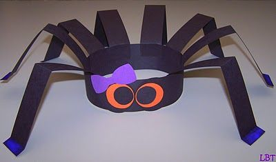 Purple bow Spider Hat