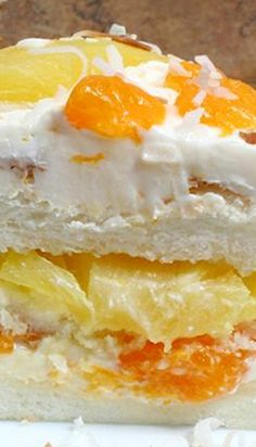 Orange Ambrosia Cake Recipe