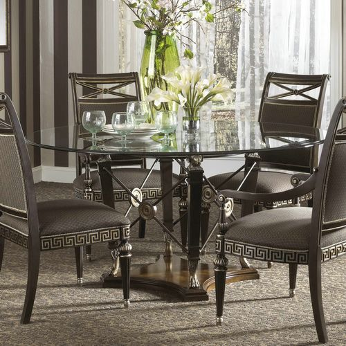 Fine Furniture Design Belvedere 64 Inch Round Glass Top Dining Table For  Sale At Carolina Rustica.