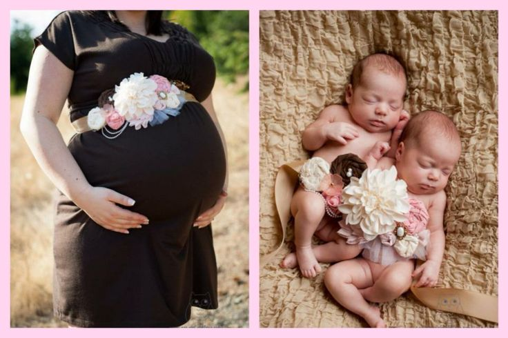 My Twin Maternity Photoshoot with sash that i made ~ and Alyssa & Vanna's newborn shoot when they were about 6 weeks old ( 31 week preemies spent 33days in nicu ) with my sash laying over them together <3  norabelphotography.com twin twins sisters photo photography