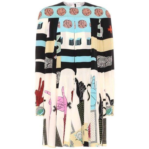 Printed silk minidress Valentino (€2.490) via Polyvore featuring dresses