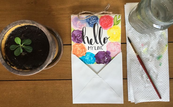 A personal favorite from my Etsy shop https://www.etsy.com/ca/listing/463272903/watercolor-love-greetint-card-greeting