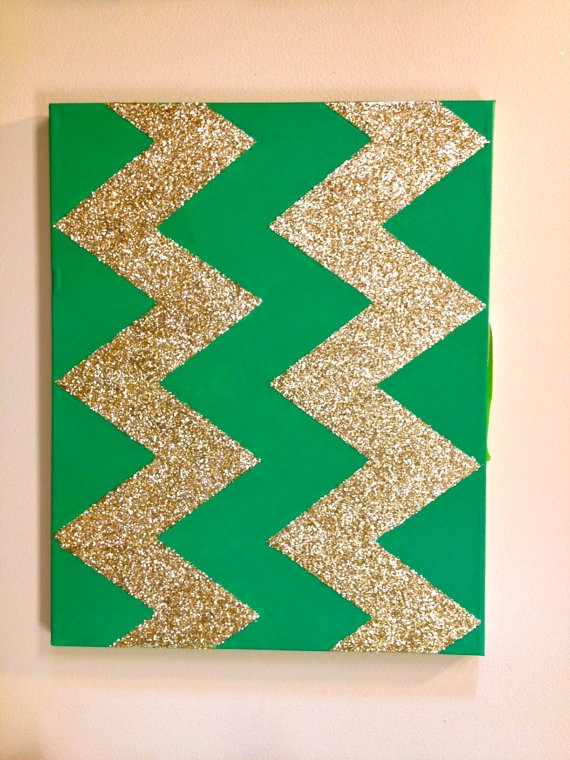 glitter chevron canvas <3
