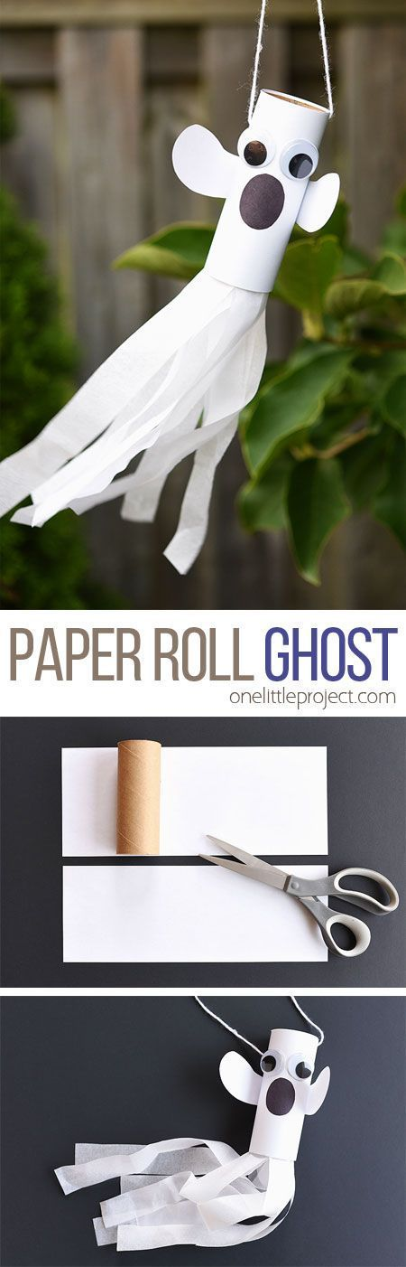 This paper roll ghost is SUCH a fun craft for Halloween! It's a super simple…