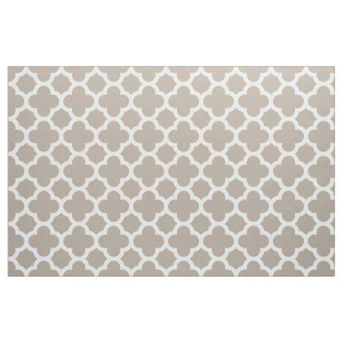 Chic Beige Gray Retro Cute Trellis Pattern Fabric - chic gifts diy elegant gift ideas personalize
