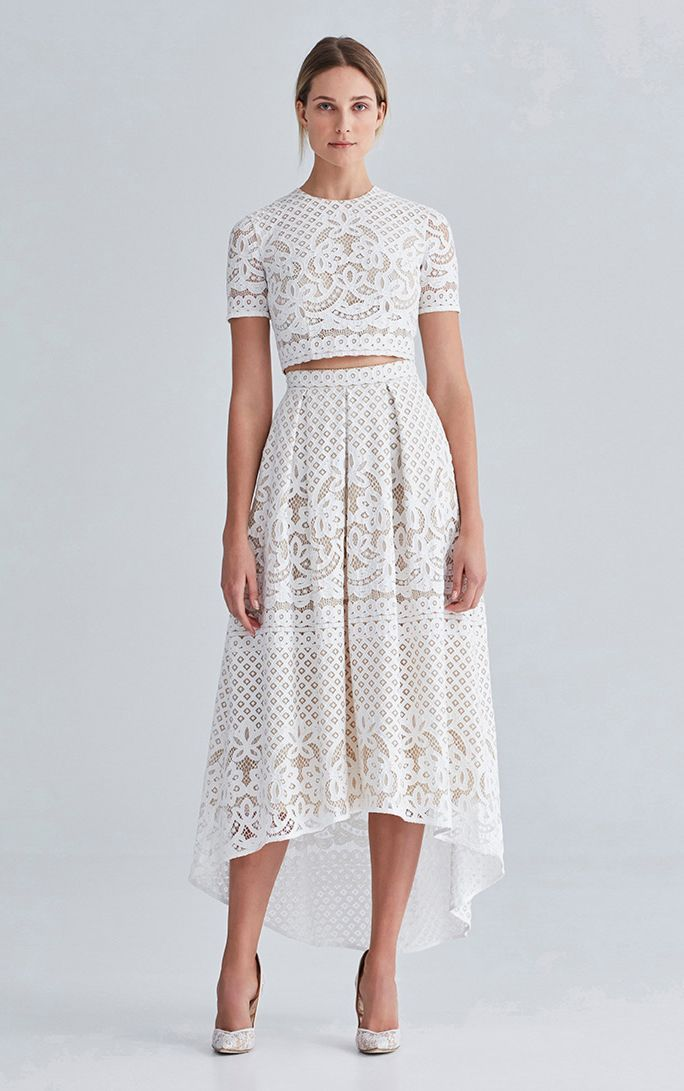 2016 Bridesmaid trend: Two Piece & Separates | Lover White Magick skirt and crop top