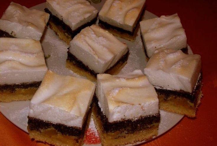 Habos-mákos szelet – Nagyon mutatós és finom sütemény!