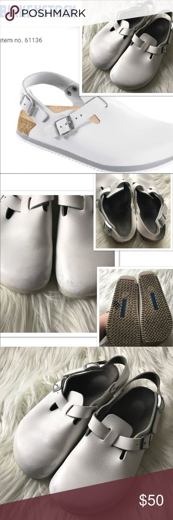 Birkenstock All Pro Clogs soles designed for extra traction • scuffing to the toes (shown) • leather. Open to offers! 🛍 20% discount on bundles! 👛 Birkenstock Shoes Mules & Clogs