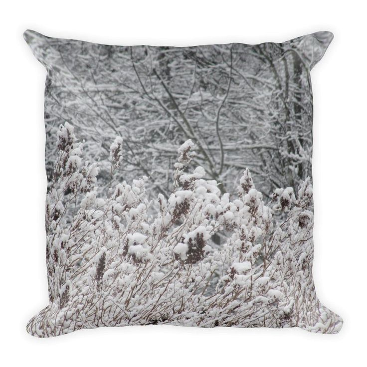 "Square Pillow ""Pattern in Snow"""