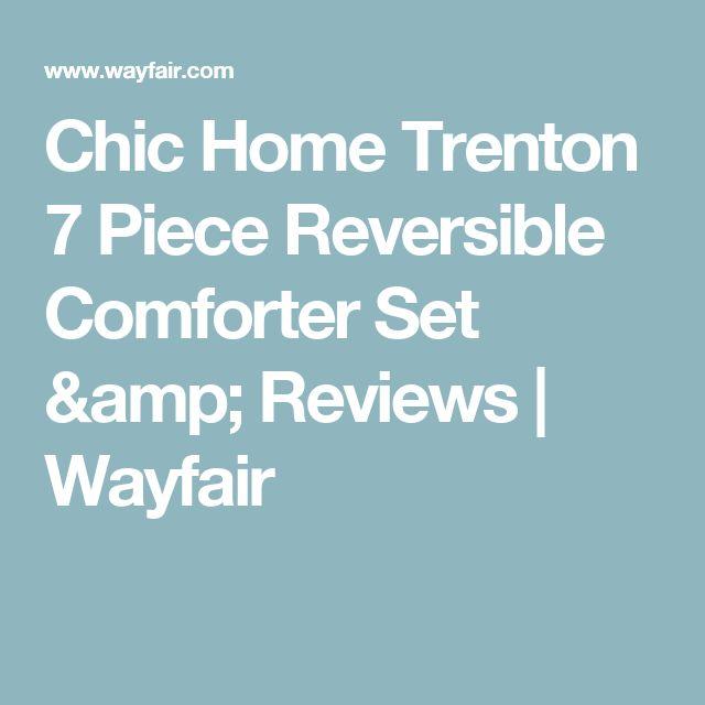 Chic Home Trenton 7 Piece Reversible Comforter Set Reviews