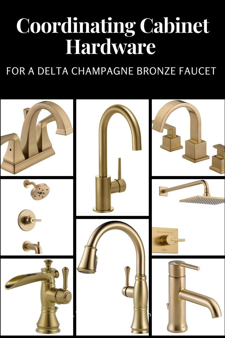 Coordinating Cabinet Hardware For A Delta Champagne Bronze Faucet